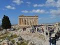 widok z Belwederu na Partenon